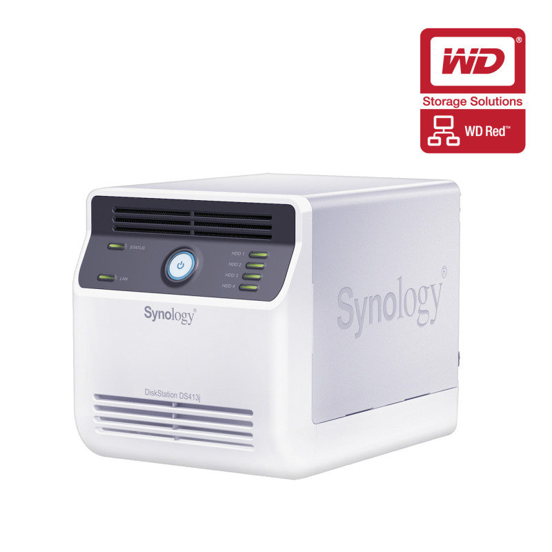 Synology DS413J 8TB (WD Red HDD) 4 Bay Desktop NAS