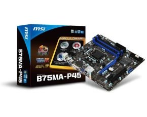 MSI B75MA-P45 Socket 1155 VGA DVI 8 Channel Audio ATX Motherboard