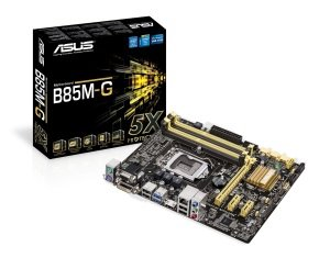 Asus B85M-G Socket 1150 VGA DVI HDMI 6+2 Channel HD Audio mATX Motherboard