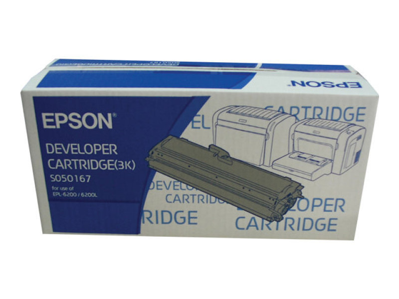 Epson EPL-6200/6200L Black Laser Toner Cartridge 3000 Pages
