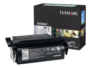 Lexmark 12A5840 Black Toner Cartridge (10,000 Pages) For Optra T610/614/616