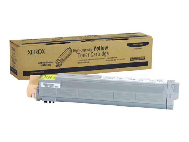 Xerox 106R01079 High Yield Yellow Toner Cartridge 18,000 Pages