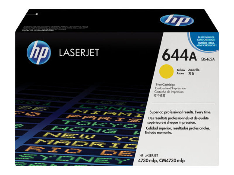 HP 644A Yellow Toner Cartridge 12,000 Pages - Q6462A