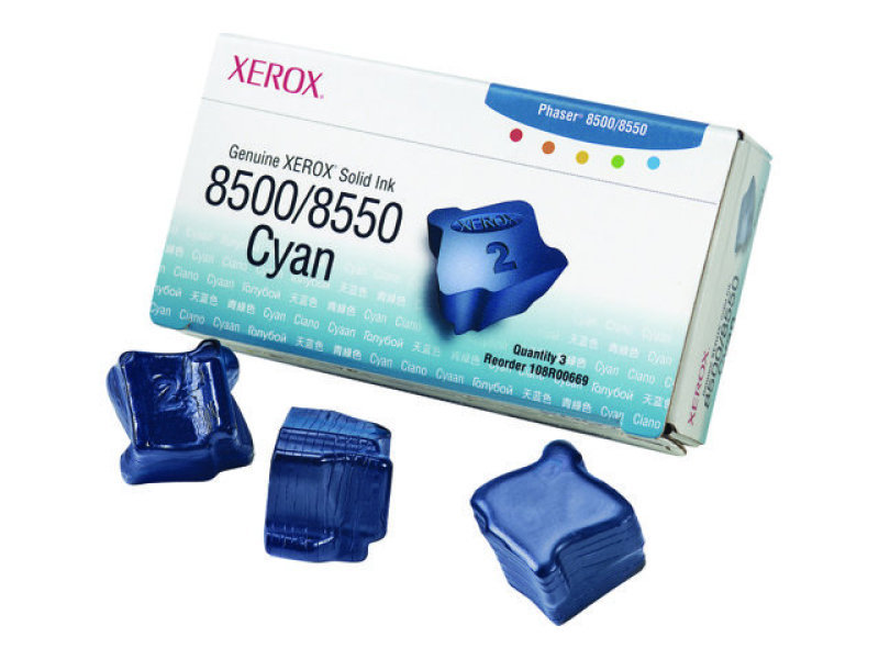 Xerox Solid Inks 3XCyan  For Phaser 8500/8550