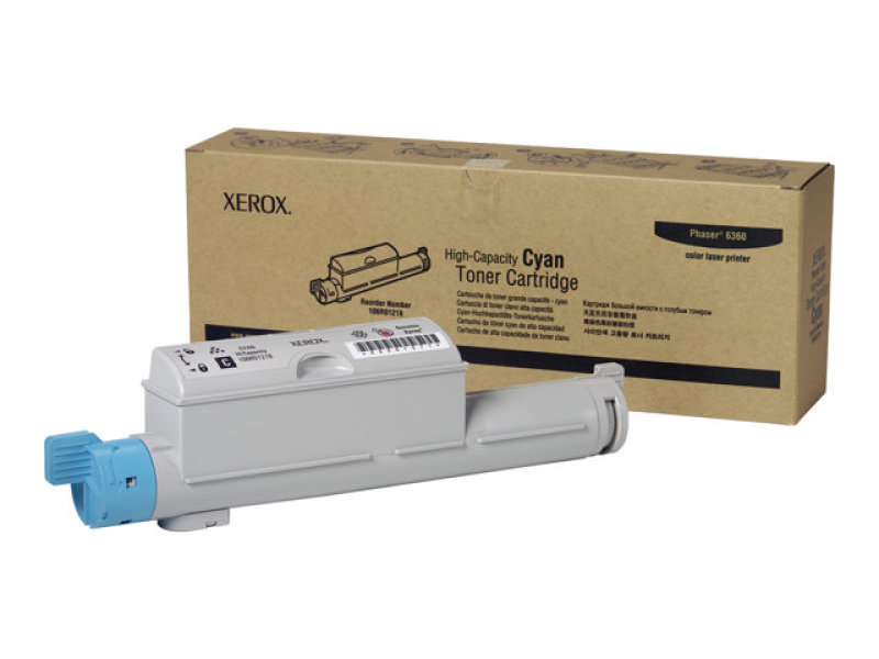 Xerox 106R01218 High Yield Cyan Laser Toner Cartridge 12,000 Pages