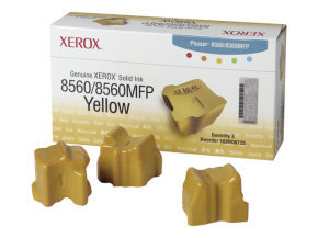 Xerox Phaser 8560 Yellow Solid Ink Cartridges - 3 Pack