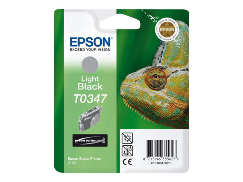 Epson T0347 17ml Light Black Ink Cartridge 440 Pages