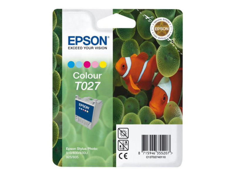 Epson T027 46ml Colour Ink Cartridge 220 Pages