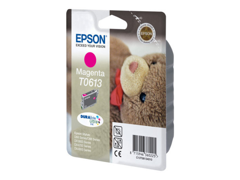 Epson T0613 8ml Pigmented Magenta Ink Cartridge 250 Pages