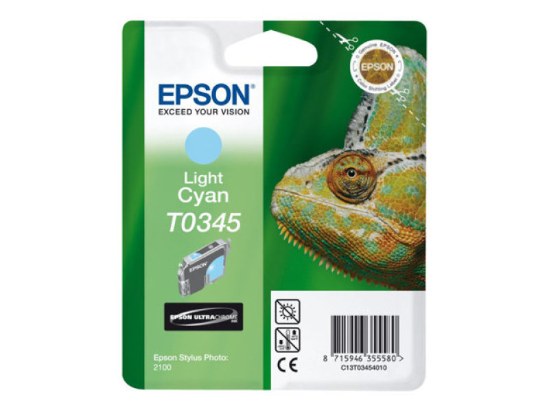 Epson T0345 17ml Pigmented Light Cyan Ink Cartridge 440 Pages