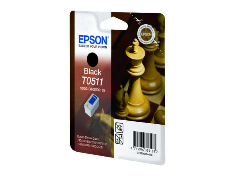 Epson T0511 - Print cartridge - 2 x black - 1800 pages