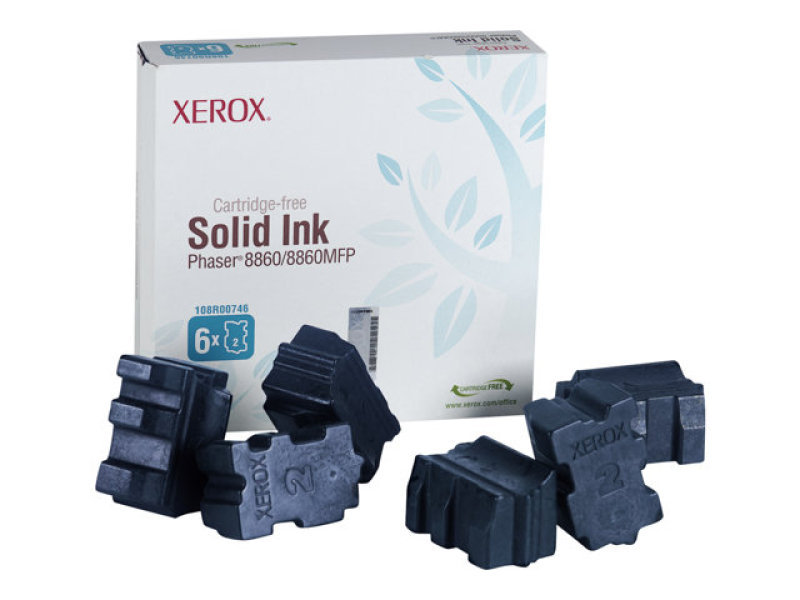 Xerox - Solid inks - 6 x cyan - 14000 pages  - Phaser 8860/8860mfp (6 Sticks)
