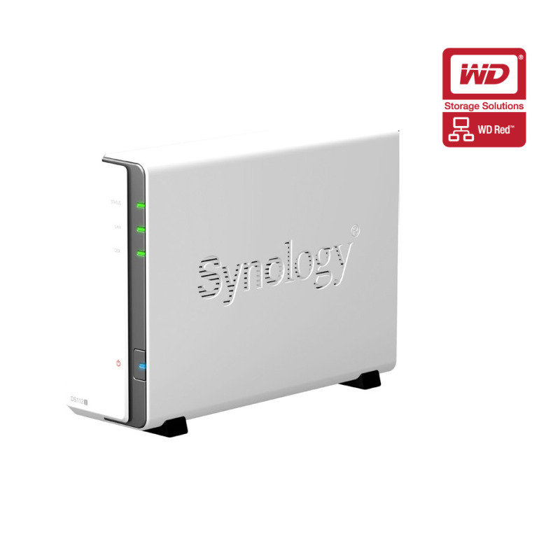 Synology DS112J 3TB (WD Red HDD) 1 Bay Desktop NAS