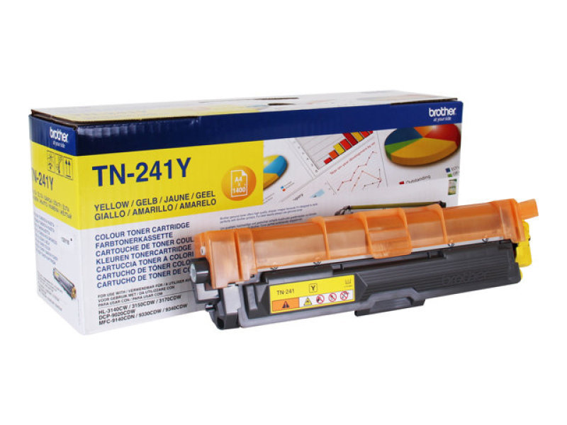Compare prices for Brother TN241Y Laser Toner Cartridge - Yellow Printer Office Work Ink