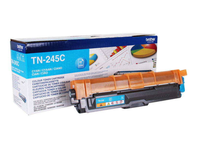 Brother TN-245C Cyan High Yield Toner Cartridge - 2,200 Pages