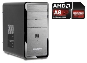 Zoostorm Desktop PC AMD A8 5500 3.2Ghz APU 8GB DDR3 1333Mhz Ram 2TB HDD AMD Radeon HD 7560D Graphics up to 4GB graphics system memory mATX case with DVDRW No OS