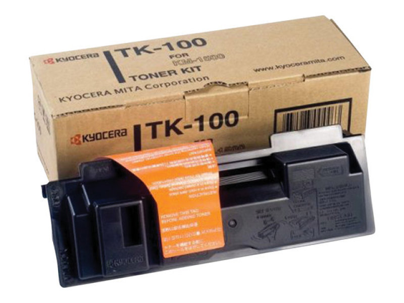 Kyocera Original Black Laser Toner Cartridge Kit (TK-100) (504321)