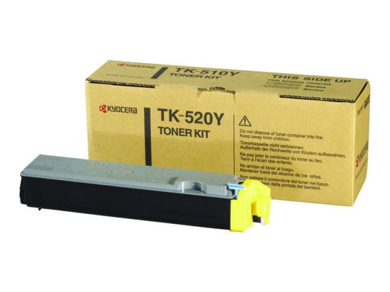 Kyocera TK-520Y Yellow Toner Cartridge