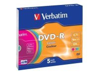 Verbatim Dvd-r 16x Non Print Slim Pk5