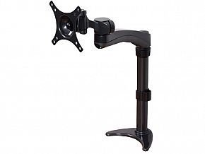 "Single Arm Flat Screen Desk Mount For Screens Up To 24"" Max Weight"