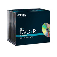 TDK 16x DVD+R 4.7GB 10 Pack Jewel Case