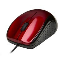 V7 Mouse Optical Usb (Black/Red) - 3 Button Wheel