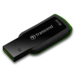Transcend Jetflash 360  16GB USB Flash Drive (Black/Green)