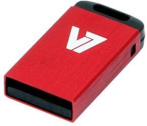 V7 USB 2.0 Nano Stick 4GB (Red) - VU24GCR-Red-2E