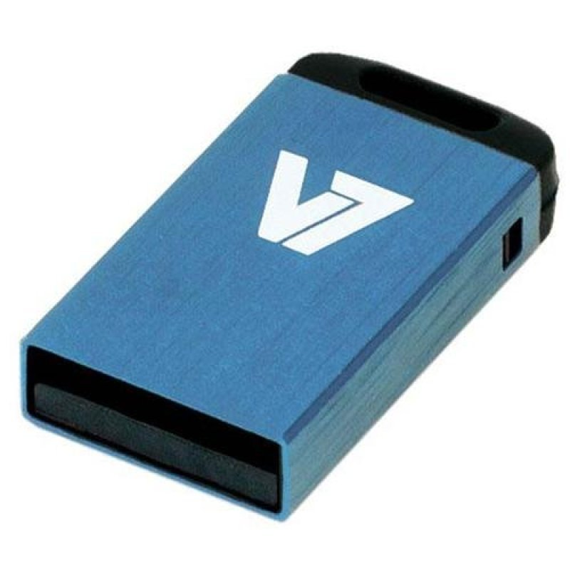 V7 8GB USB 2.0 Nano Flash Drive (Blue)