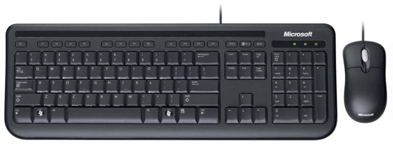 microsoft wired desktop 400 keyboard and mouse for business usb ebuyer. Black Bedroom Furniture Sets. Home Design Ideas