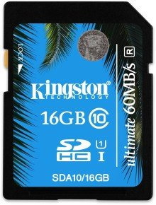 Kingston 16GB SDHC UHS-I Ultimate Flash Card