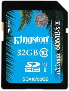 Kingston 32GB SDHC Ultimate Class 10 Flash Card