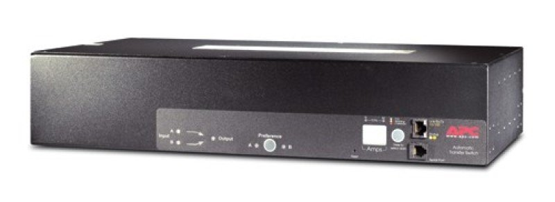 Image of APC AP7724 230V, 32A, IEC309-32A In, (16) C13, (2)C19 Out 2U Rackmount Transfer Switches
