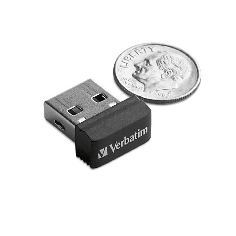 Verbatim Store 'n' Stay 32GB Nano USB Flash Drive (black)