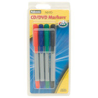Fellowes CD/DVD Marker Pens - 4 Pack