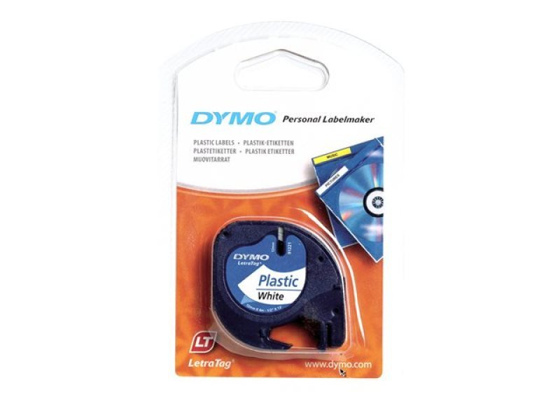 DymoPlastic Tape 12mmx4m - Black/transparant In