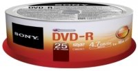 Sony 16x DVD-R 4.7GB 25 Pack Spindle