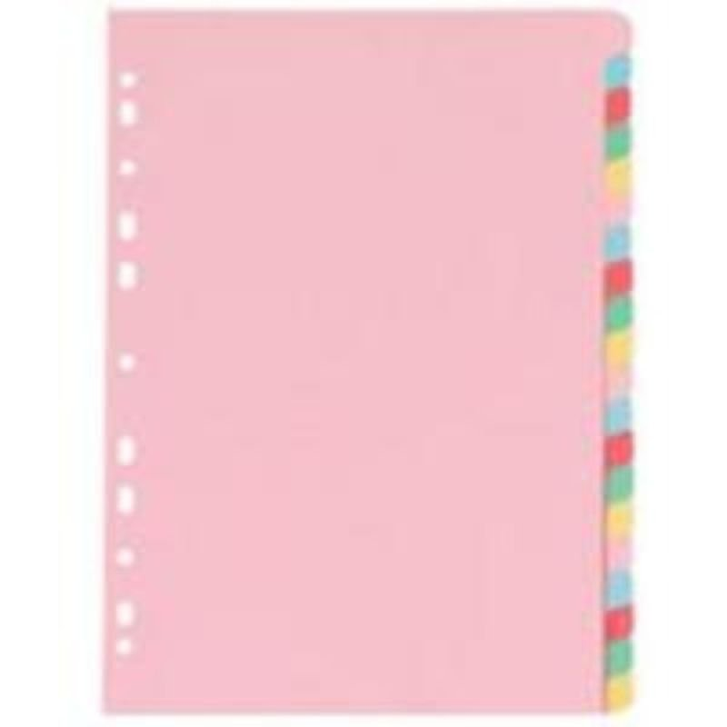 Extra Value 20 Part A4 Subject Dividers