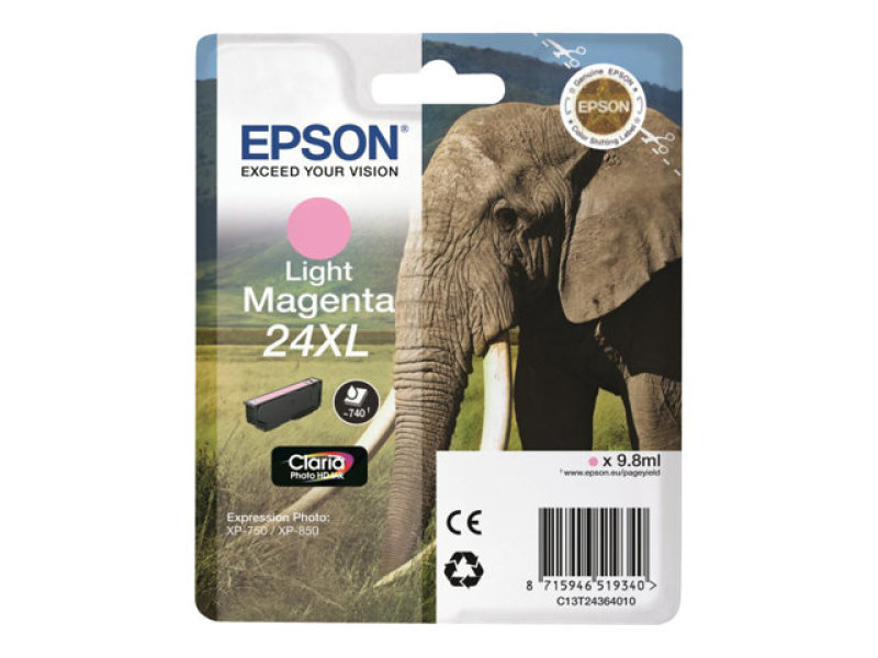 Epson 24XL Light Magenta Ink Cartridge- Blister