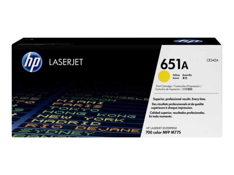 HP 651A Yellow Laserjet Toner Cartridge - CE342A