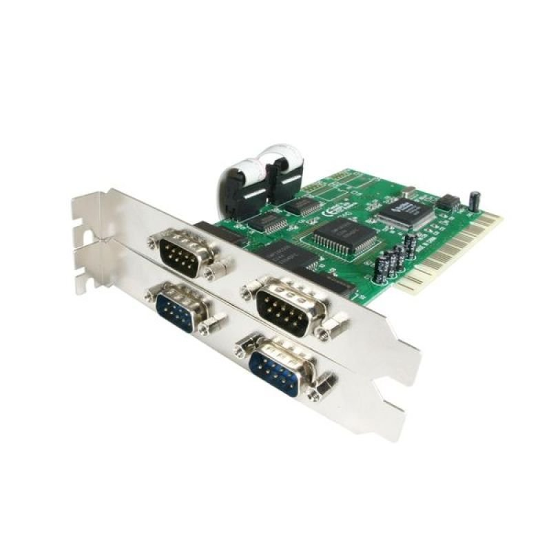 StarTech.com 4 Port PCI RS232 Serial Adapter Card with 16550 UART