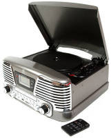 Gpo Memphis Record Player - Black