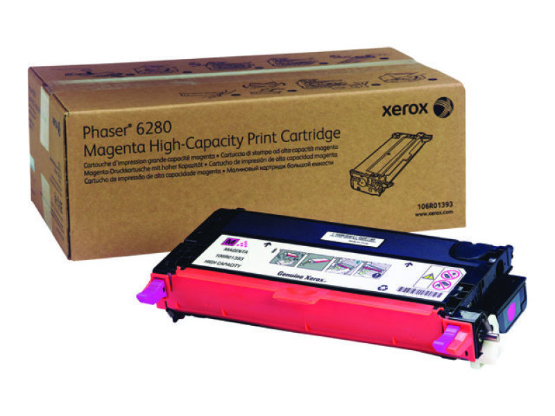 Xerox 106R01393 High Yield Magenta Laser Toner Cartridge 5900 Pages