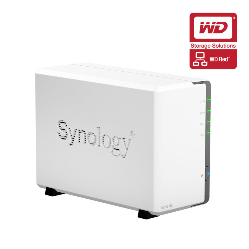 Synology DS213AIR 4TB (2 x 2TB WD Red HDD) 2 Bay Desktop NAS