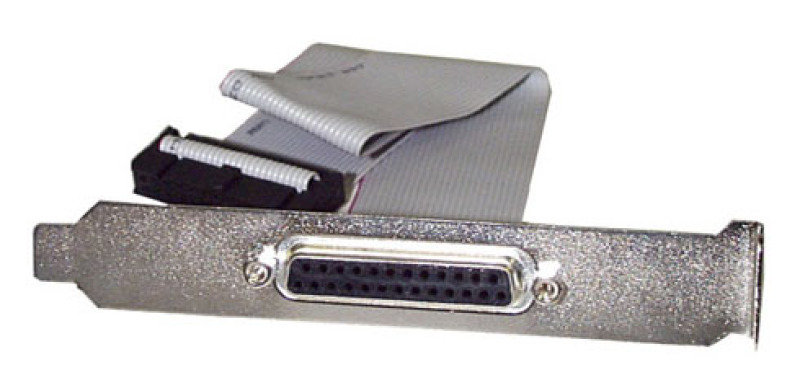 Image of StarTech.com 16in DB25 Parallel Female to IDC 25 Pin Header Slot Plate