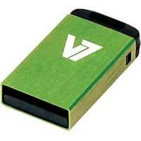 V7 8GB USB 2.0 Nano Flash Drive (Green)