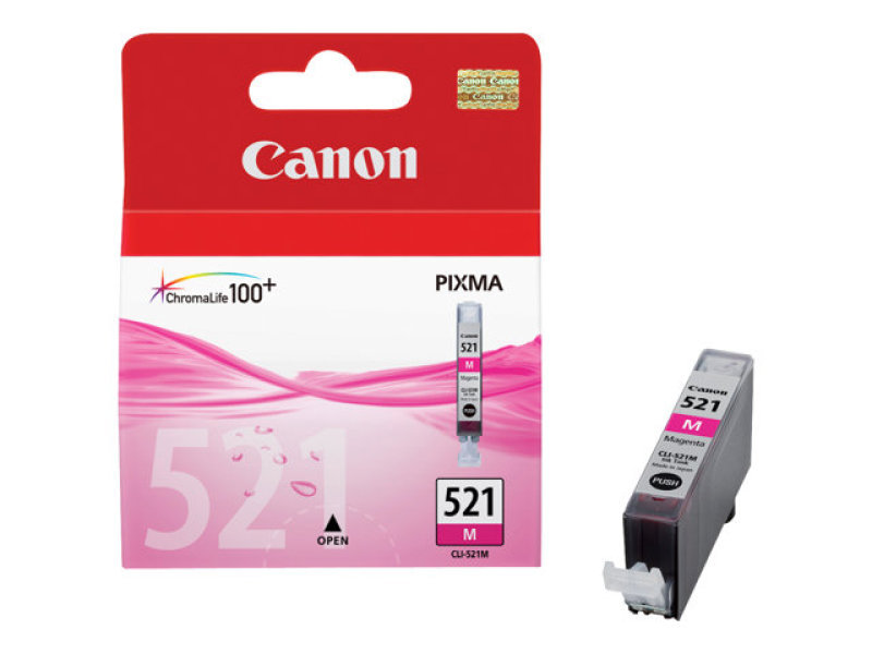 Canon CLI-521M Magenta Ink Cartridge - 540 Pages - 2935B001