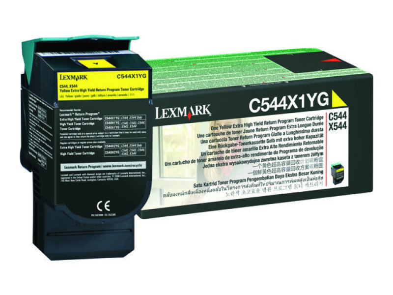 Lexmark 0C544X1YG Yellow Toner Cartridge