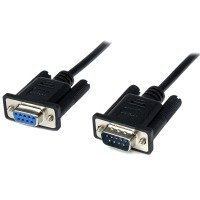 StarTech.com 2m Black DB9 RS232 Serial Null Modem Cable F/M - DB9 Male to Female - 9 pin Null Modem Cable - 1x DB9 (M), 1x DB9 (F), Black