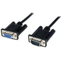 StarTech.com 2m Black DB9 RS232 Serial Null Modem Cable F/M - DB9 Male to Female - 9 pin Null Modem Cable - 1x DB9 (M), 1x DB9 (F), Black